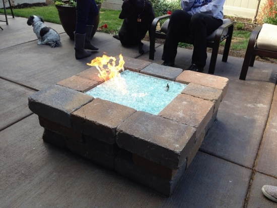 RV Fire Pit with Pavers
