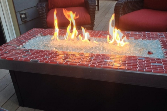 Custom Aluminum Fire Table with Tiles