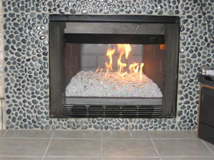 Before And After Fireplace Glass Photos