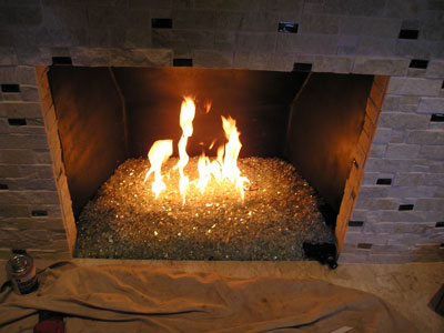 fireplace and pit pictures with glass