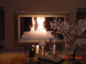 AmazingGlassFlames.com is offering Aquatic Glassel fireplace glass that replaces traditional fireplace logs. We also have fireplace design