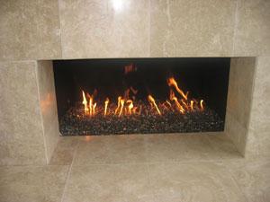 AmazingGlassFlames.com, Bronze Reflective fireplace glass, fire ...