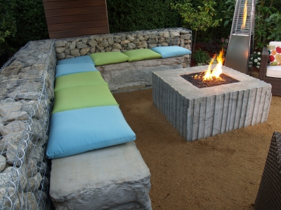 Aquatic Glassel Fire pit for Yard Crashers