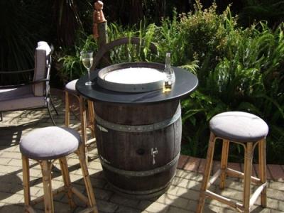 wine barrel furniture construction