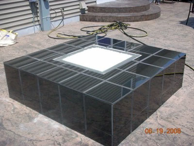 Fire pit installation fireplace for Concreteworks fire table