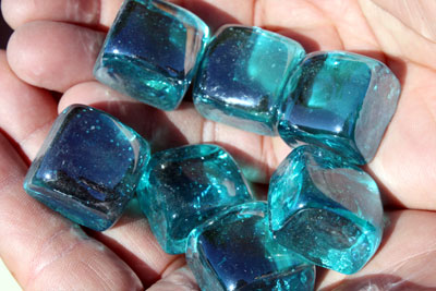 perwinkle glass cubes 3
